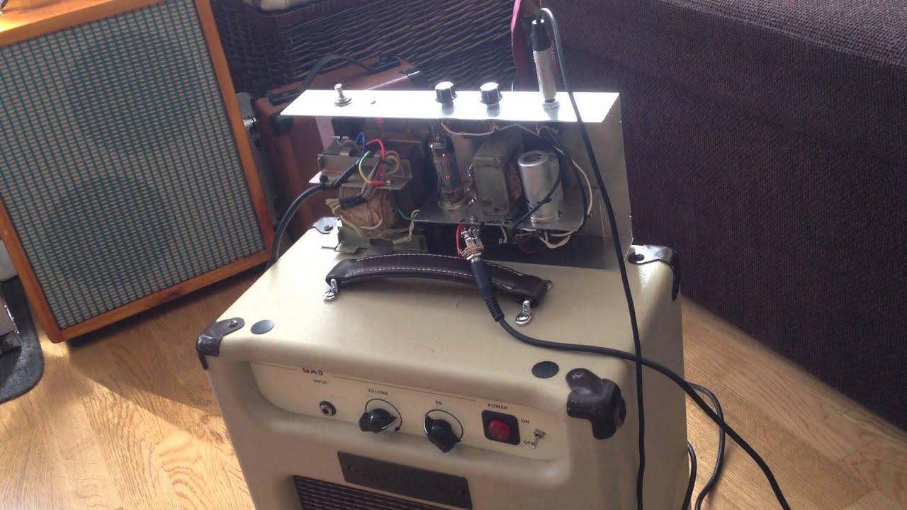 4w Breket tube amp to 1977 Alnico Fender Champ speaker in a Harley Benton  Ga5