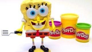 Play Doh Spongebob Squarepants Playset Mold a Sponge Nickelodeon playdough Bob Esponja plastilina