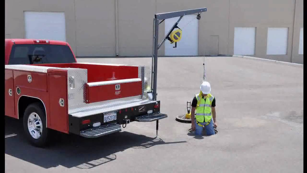 Western Mule Pickup Truck Cranes Youtube