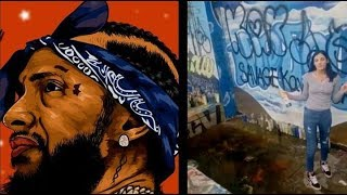 Connecticut Girl Destroy Nipsey Hussle Mural Return After Death Threats..DA PRODUCT DVD
