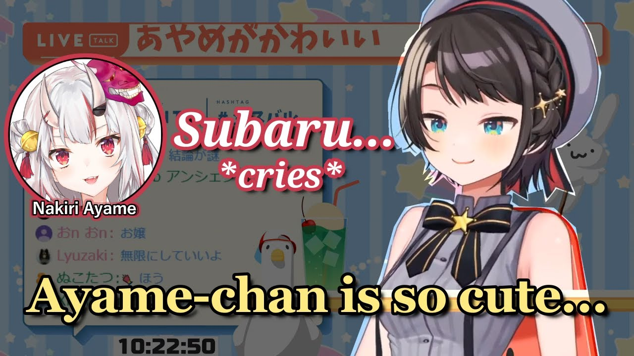 Oozora Subaru - Bragging About Ayame