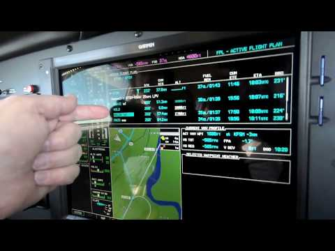 Flying The Visual Approach in a G1000 Equipped Piper Mirage