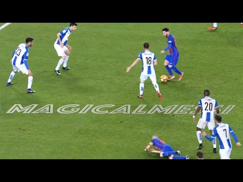 Lionel Messi vs 3 or More Players - No Goals - HD