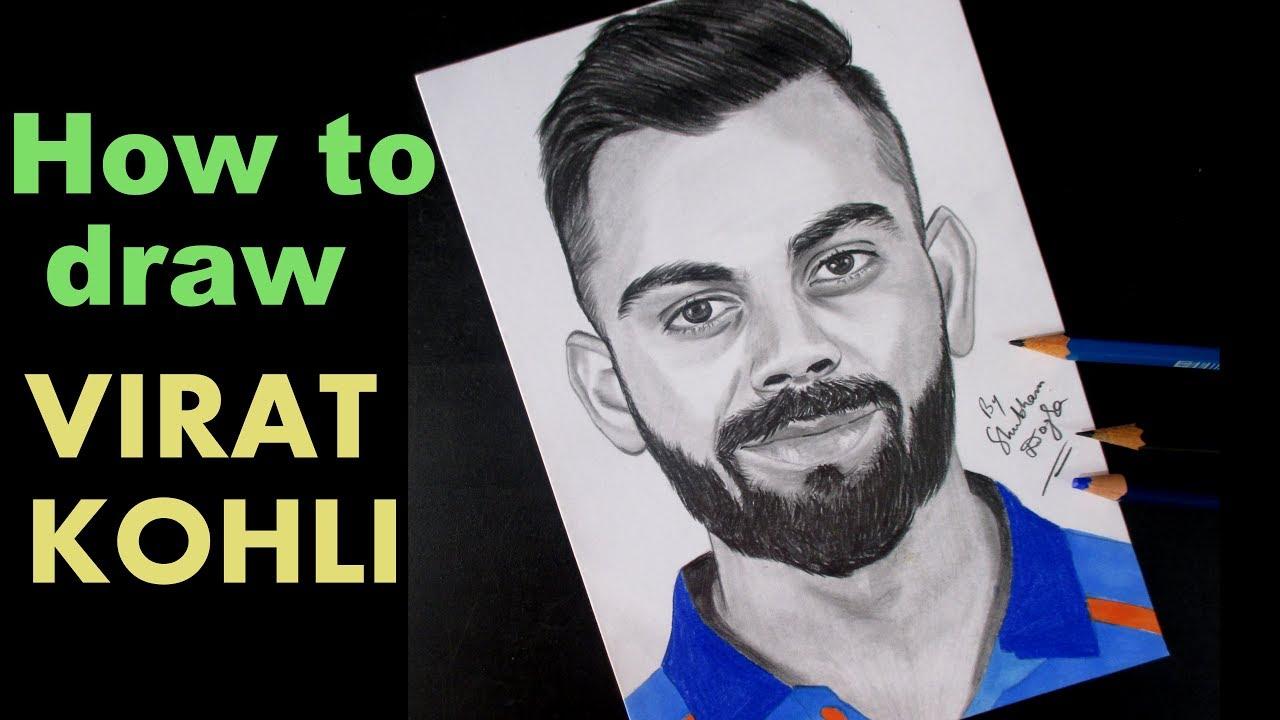 How To Draw Virat Kohli Artist Shubham Dogra