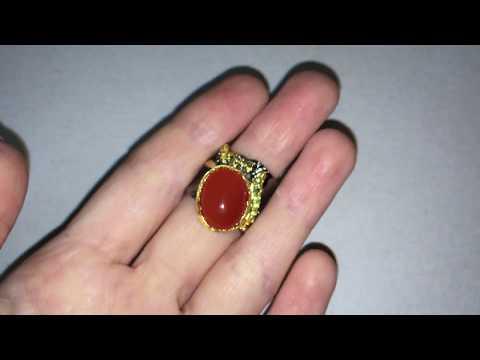 HANDMADE! Серебряное кольцо с крупным сердоликом