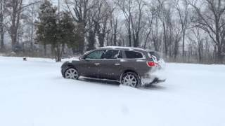 Buick Enclave in snow