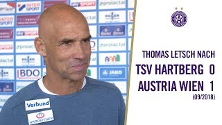 Trainer Thomas Letsch zum Sieg in Hartberg