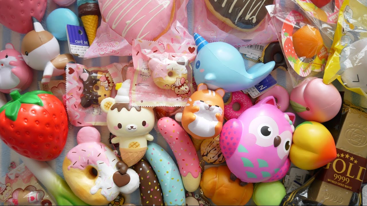 SQUISHIES GALORE! CreamiiCandy Squishy Review Package Opening + Collective Squishy Haul - YouTube