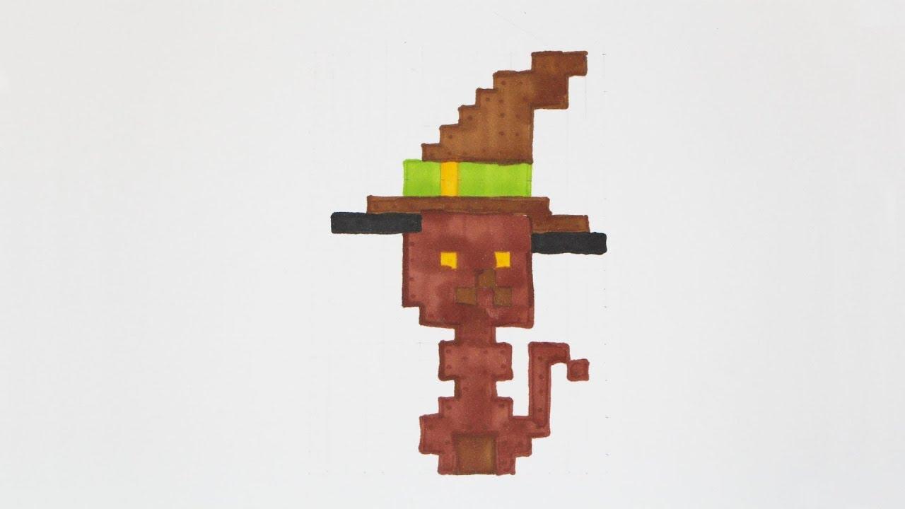 Comment Dessiner Un Chat Halloween Pixel Art