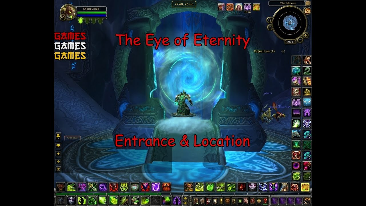The Eye of Eternity Raid Entrance & Location - YouTube