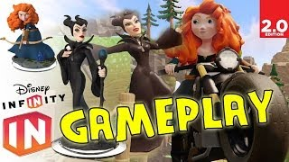 Disney Infinity 2.0: Merida & Maleficent Gameplay (toy Box Characters) W/ Toy Pics