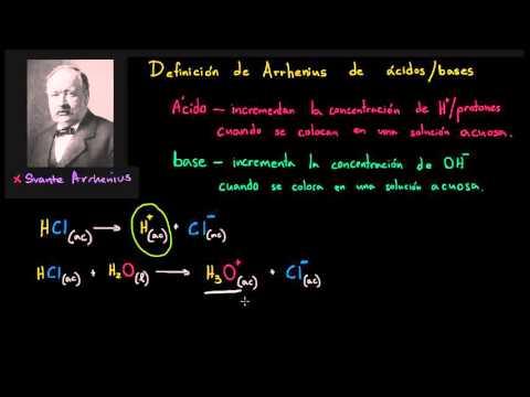 Definición de Arrhenius para ácidos y bases