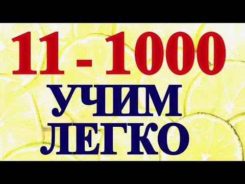 11-1000 ЧИСЛА в Английском Языке для Начинающих С Нуля - Считаем на Английском Цифры-Уроки