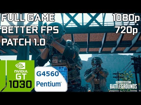 PUBG (FULL GAME) [PC] GT 1030 2GB GDDR5 & Intel Pentium G4560 & 8GB RAM