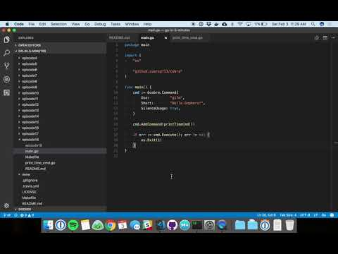Writing Command Line Applications in Go (Episode 18) - YouTube