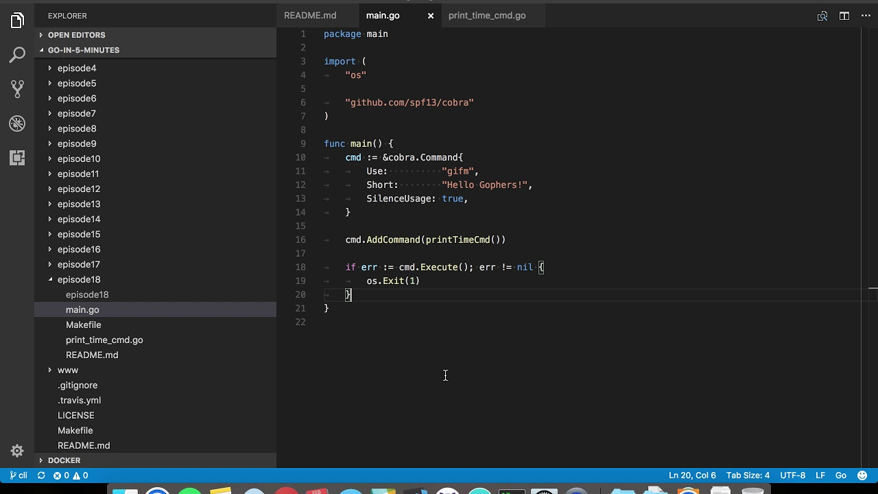 Writing Command Line Applications in Go (Episode 18)