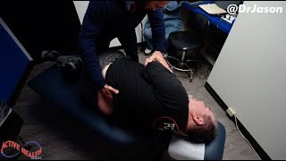 Dr. Jason - Custom Car Expert With SEVERE LOWER BACK PAIN Receives First Alignment