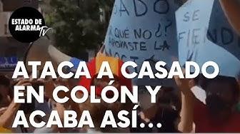 """Imagen del video: Un hombre ataca a Pablo Casado durante la manifestación de Colón y acaba así: """"Nos has abandonado"""""""