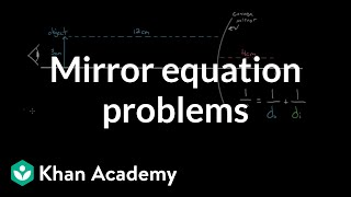 Mirror equation example problems | Geometric optics | Physics | Khan Academy