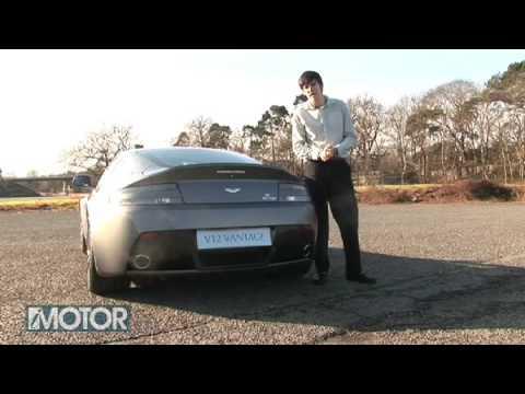 Aston Martin Vantage V12 driving.