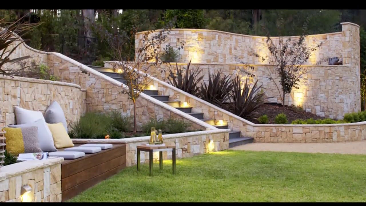 31 Landscape Design for Sloped Backyard - YouTube on Backyard Lawn Designs  id=18660