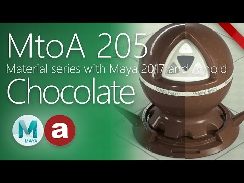 MtoA 205   Chocolate Candy   Material series using Arnold5 with Maya 2017