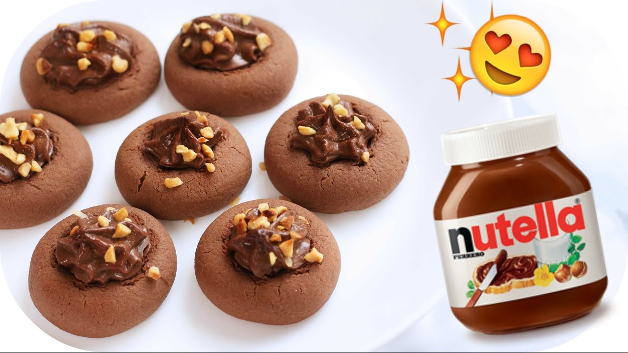 NUTELLA KEKSE in 10 MINUTEN! - Schneller Snack für Weihnachten ...