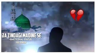 Jaa Zindagi Madine Se 💔 Whatsapp Status