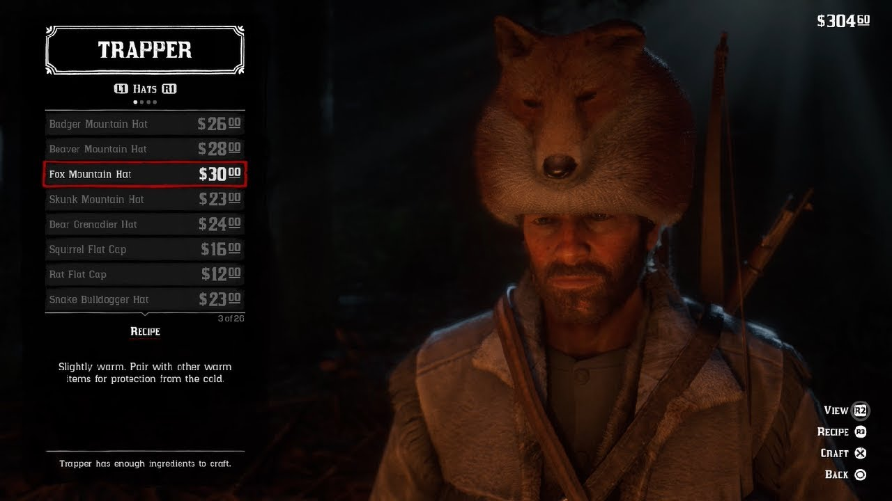 250d4c90ae2c6e How To Get The Fox Mountain Hat Without Hunting In Red Dead Redemption 2 :  RDR2 Tips and Tricks