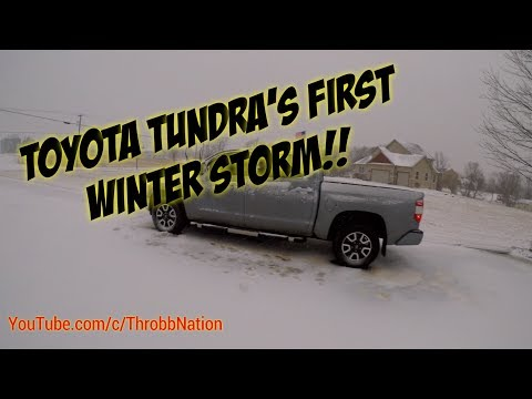 My New Tundra In The Sleet, Freezing Rain & Snow!!