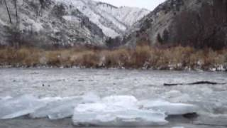 Ice Dam Breaks on Big Creek, FCRONR Wilderness (1 of 3)