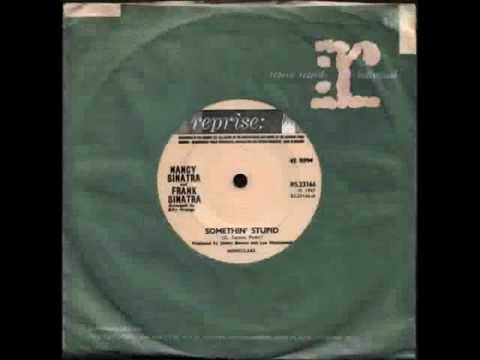 "Nancy Sinatra & Frank Sinatra - Somethin' Stupid - 7"" single record"