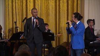 Watch 'Hamilton' stars farewell to Obama