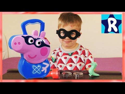 рома супергерой и свинка пеппа кейс джордж играем в темноте Peppa