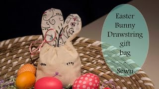 Bunny Ear Drawstring Gift Bag tutorial