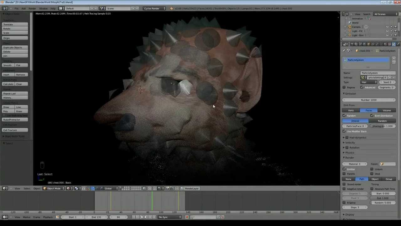 Blender 2 69 Tutorial - Morphing a Man to a Wolf/Rat