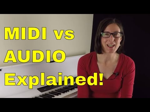 MIDI vs AUDIO: Connect And Record Your Keyboard Lesson 1