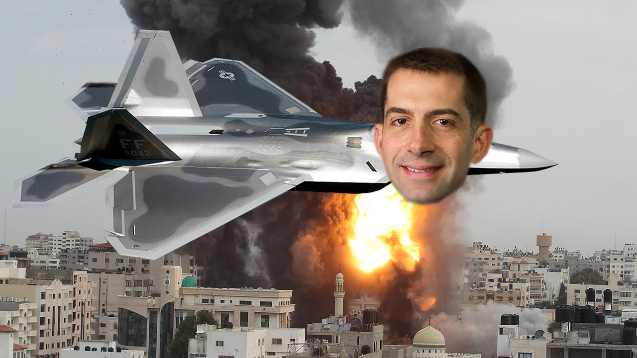 Image result for image of senator tom cotton as warmonger