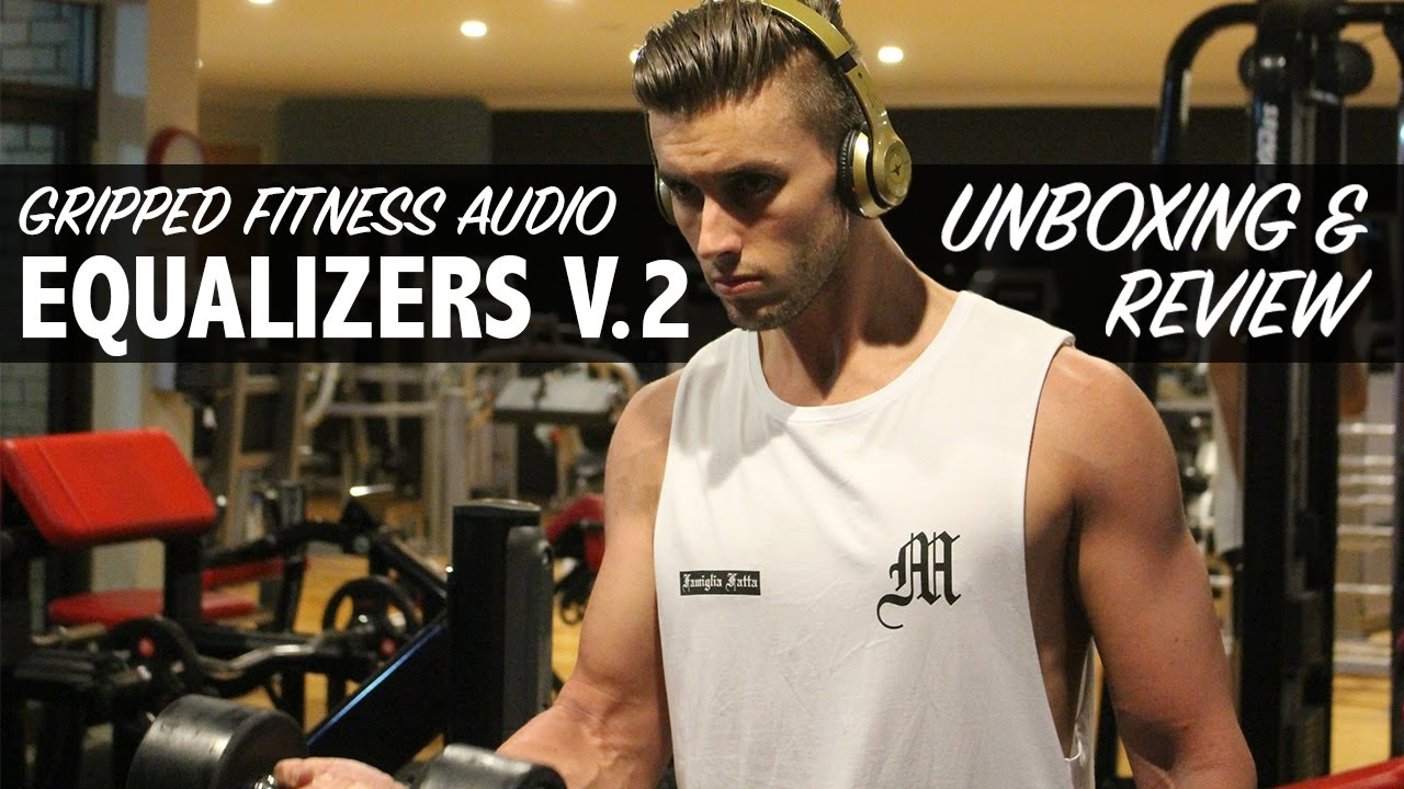 626529bcb02 NEW GRIPPED FITNESS AUDIO GYM HEADPHONES - YouTube
