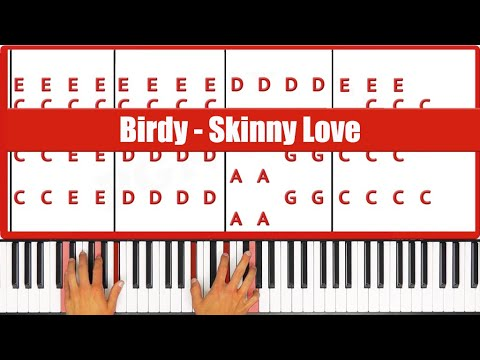 Birdy Skinny Love Piano Tutorial - ORIGINAL