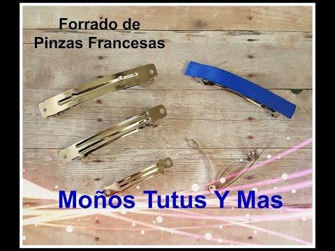 FORRADO DE PINZA FRANCESA Paso a Paso LINED FRENCH BARRETTE How To DIY Tutorial PAP Video 159