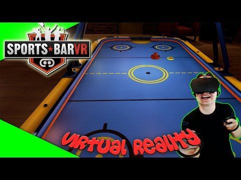 SportsBar VR - Eine Runde Airhockey? [Let's Play][Gameplay][German][Oculus Rift][Virtual Reality]