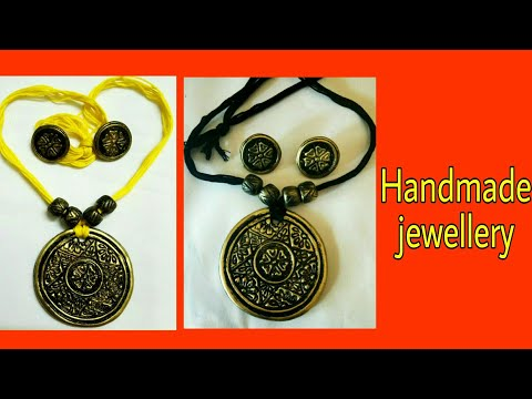 How to make polymer clay jewellery | DIY Pendant Set