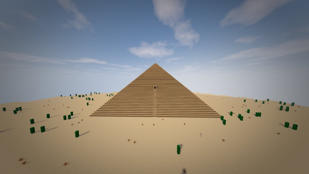 The Great Pyramid of Giza- Minecraft Seven Wonders