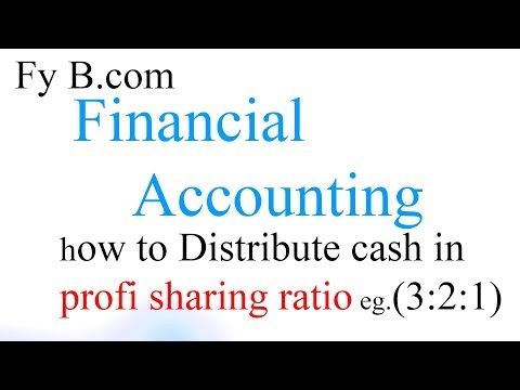 Distribute Cash In Profit Sharing Ratio