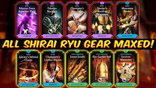 MK Mobile. All Shirai Ryu Equipment Review (Fully Maxed). This Gear is BROKEN!