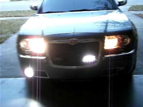 Chrysler 300c Whelen strobe light kit - YouTube