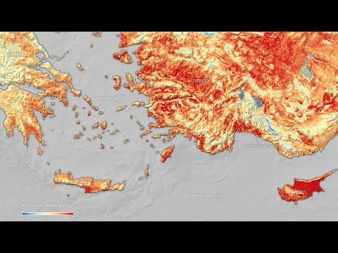 وكالة الفضاء الأوروبية: حرارة سطح الأرض في تركيا وقبرص -تجاوزت 50 درجة مئوية- …  - 22:54-2021 / 8 / 3