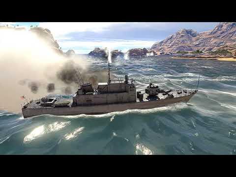 War thunder - Naval Ships Testing Cinematic Gameplay