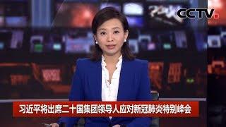 [中国新闻] 习近平将出席二十国集团领导人应对新冠肺炎特别峰会 | 新冠肺炎疫情报道
